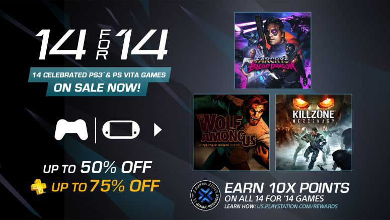 Sony : 14 for '14 Sale Starts Tomorrow: Huge Discounts on PS3, Vita Games