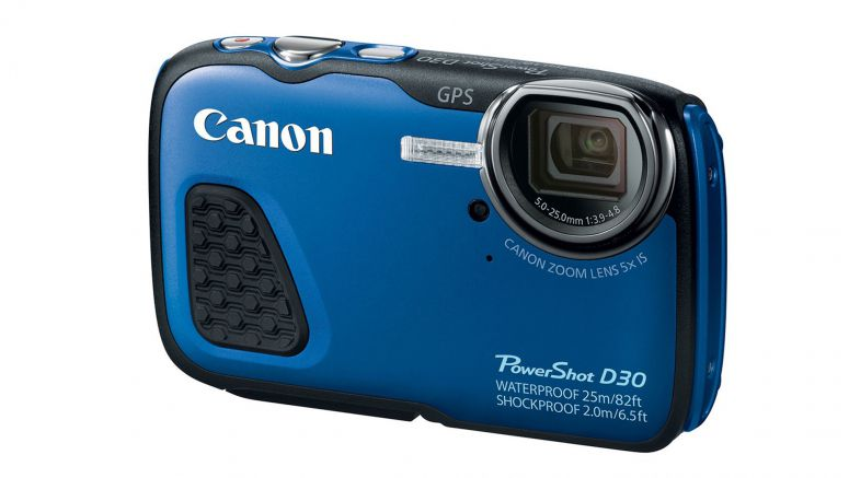 Canon PowerShot D30 is able to dive to depths of 25 meters