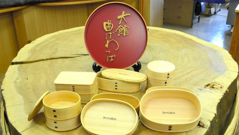 'Magewappa' bento boxes from Akita form a French connection