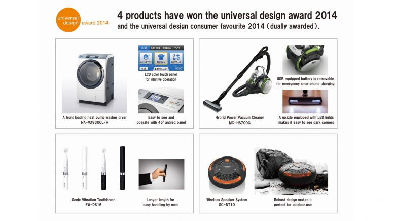 Panasonic Takes Home Four Universal Design 2014 Awards and Consumer Favorite 2014 Awards