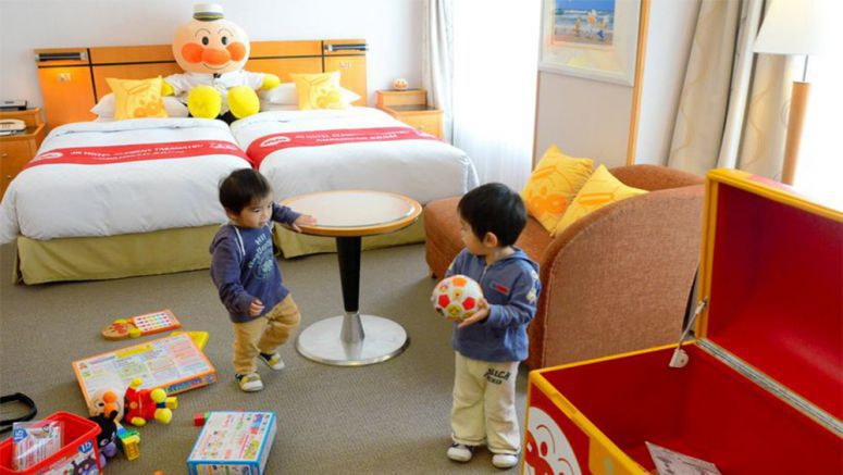 Special Anpanman hotel room filled with fun for kids