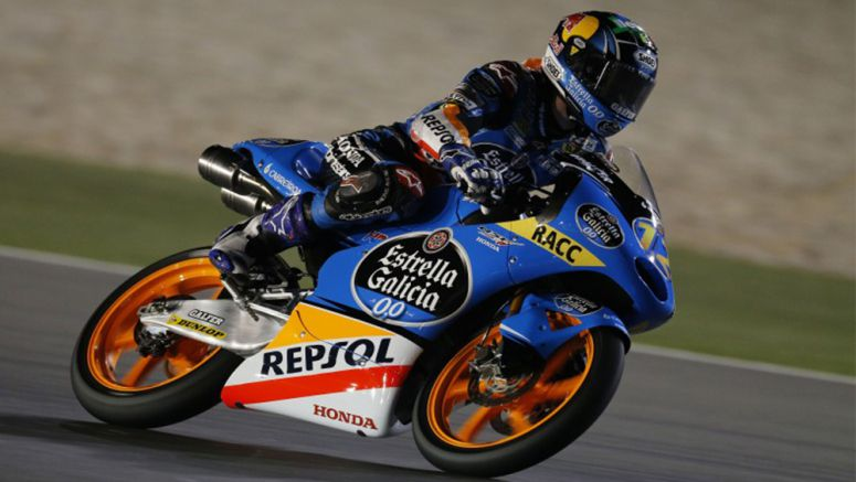 Honda claimed two out of three Moto3 podium places Qatar 2014