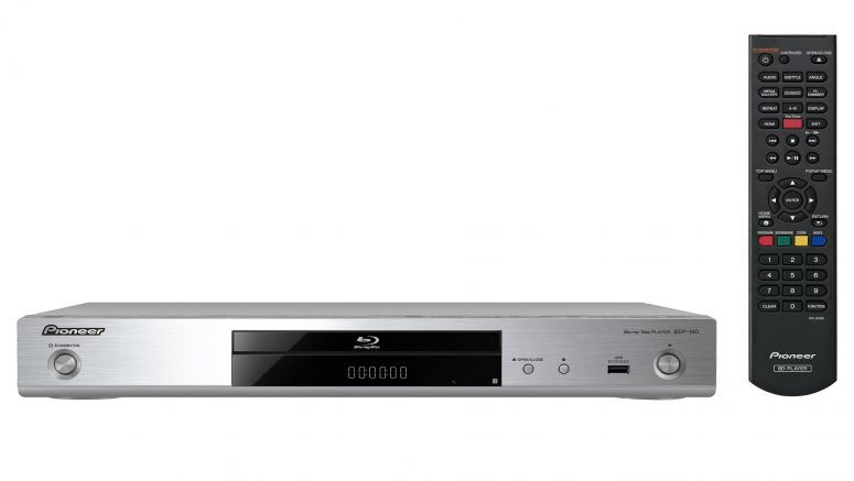 Pioneer Blu-ray Player with Network features, Youtube, Smartphone and SACD support (Silver) BDP-160-S