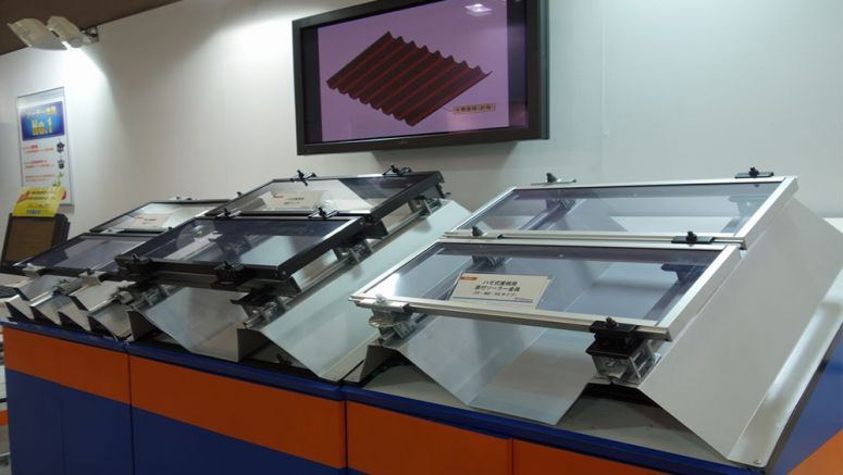 Firm Exhibits Solar Panel Mount for Folded-plate Roofs