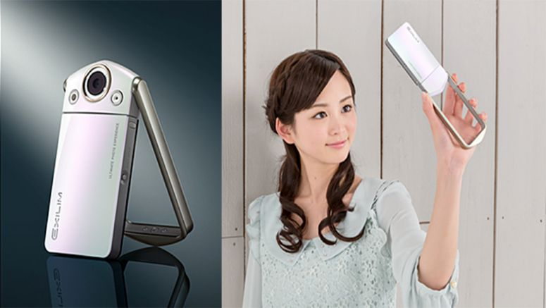 Casio Exilim EX-TR35 let users enjoy taking self-portraits while changing poses like a fashion model