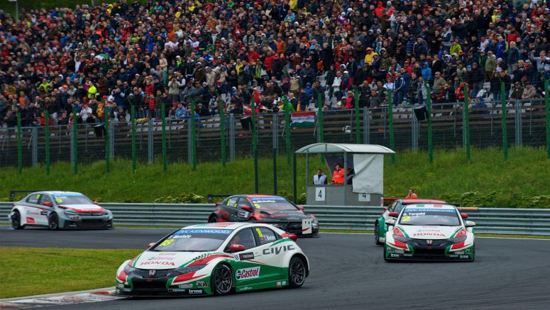 Honda Civic takes double podium at Hungaroring WTCC event
