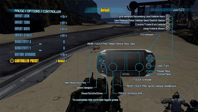 Sony : Hands-on With Borderlands 2 on PS Vita