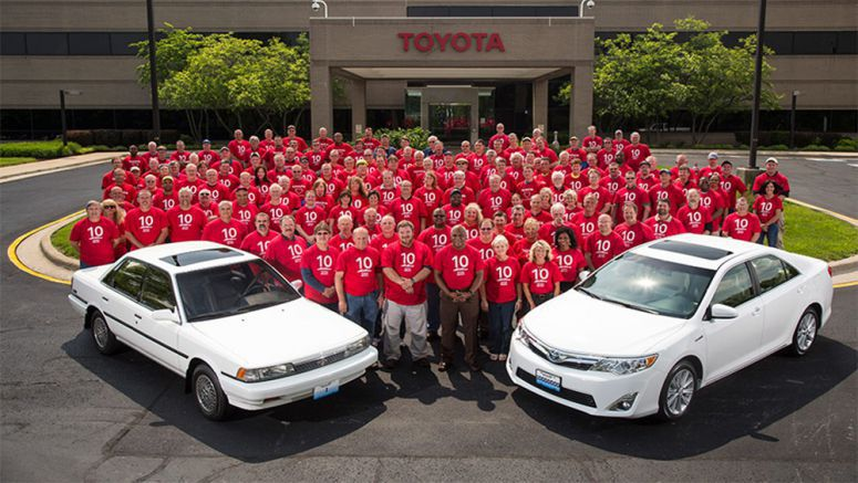 Toyota Celebrates 10-Millionth Vehicle Made in Kentucky; First Camry Rolled Off Line at Georgetown Plant in 1988