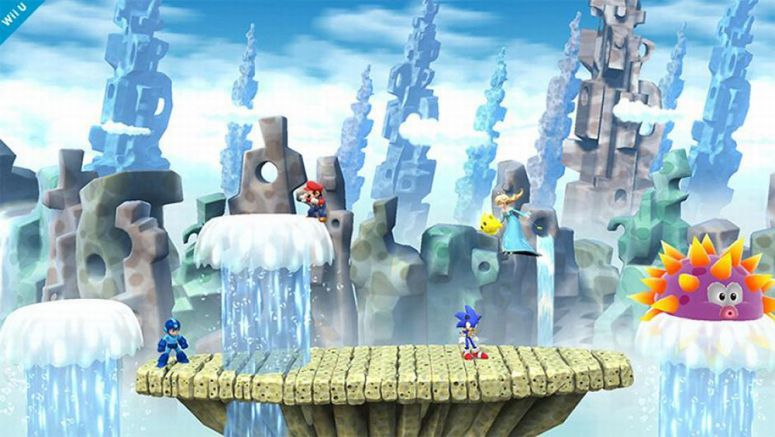 Nintendo : Super Smash Bros. Wii U Reveals Mushroom Kingdom Transforming Stage