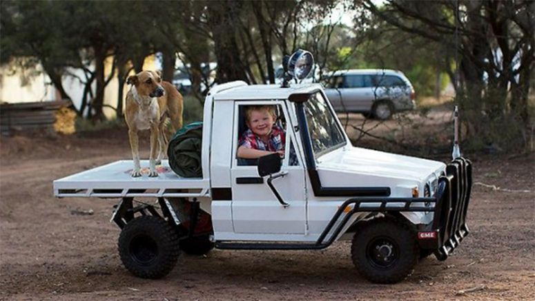 Awesome dad builds his son a Toyota Land Cruiser
