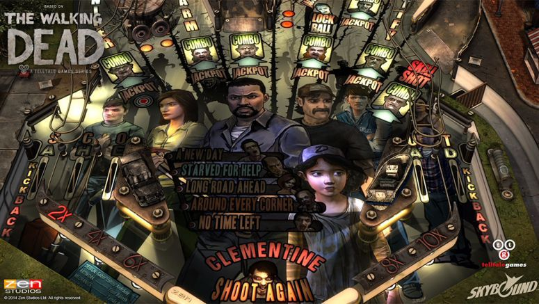 Sony : The Walking Dead Pinball Out Today