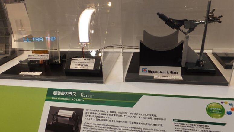 World's Thinnest Glass Plate Exhibited at Show