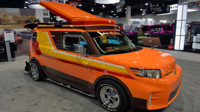 2014 SEMA Auto Show : Scion gets weird with '70s-inspired xB and Slayer tC