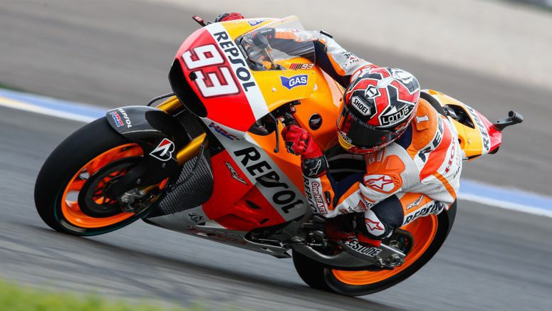 Honda MotoGP : Saturday morning sees Marquez on top again at Valencia