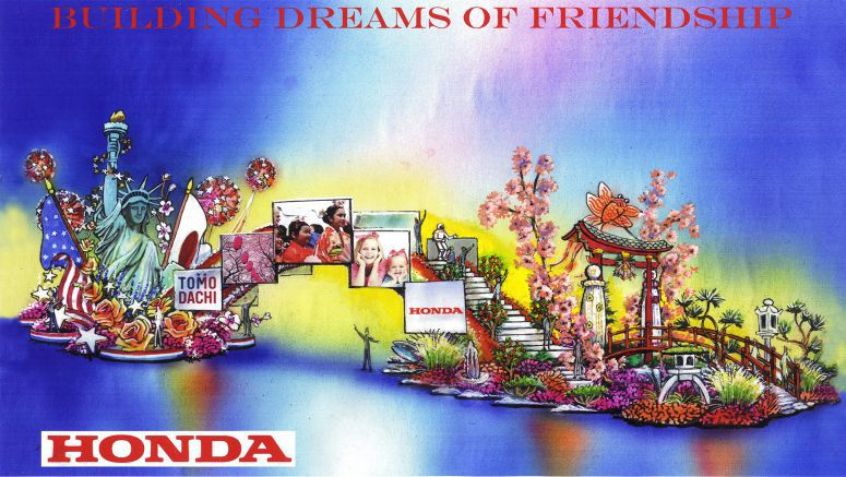 "Honda's ""Building Dreams of Friendship"" Float Reunites Japan Earthquake Survivors with U.S. Military First Responders"