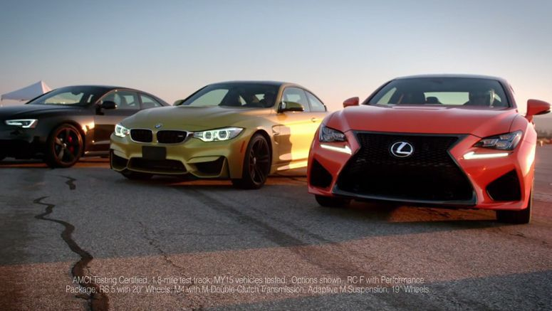 VIDEO : Competitive Review: Lexus RC F vs. BMW M4 and Audi RS 5