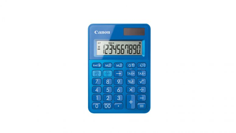 Canon adds a splash of colour to homes and offices with new calculator models