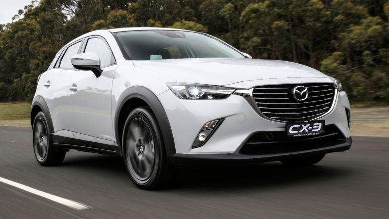 Mazda CX-3 Variant names and fuel consumption data