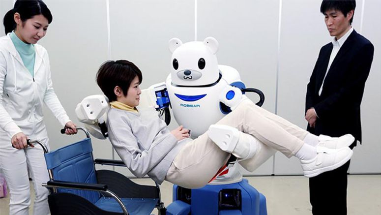 'Bearish' nursing-care robot gently assists patients