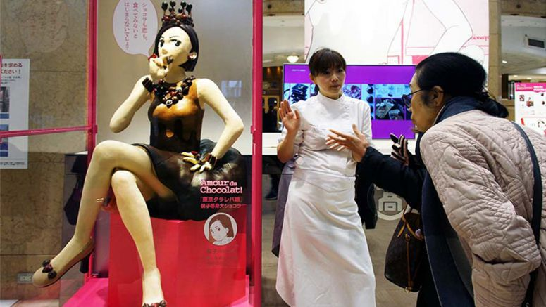 Life-size chocolate manga figures reflect Japan's changing Valentine's Day tradition