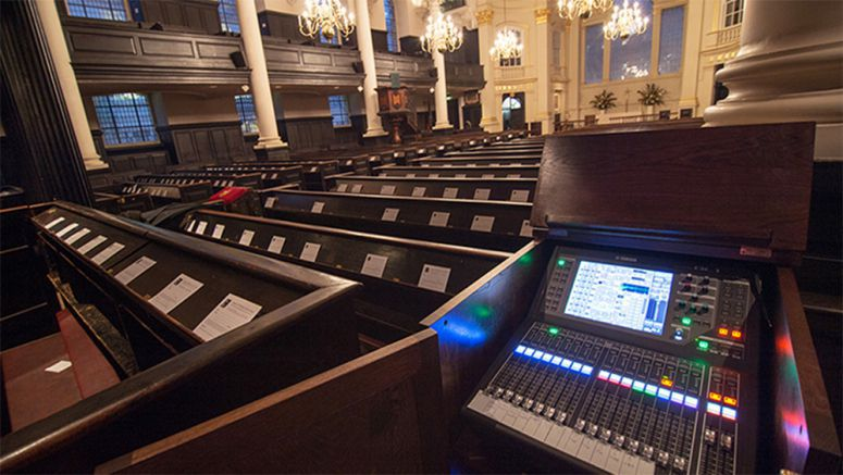 Yamaha QL1 Aids St Martin-in-the-Fields Inclusive Welcome