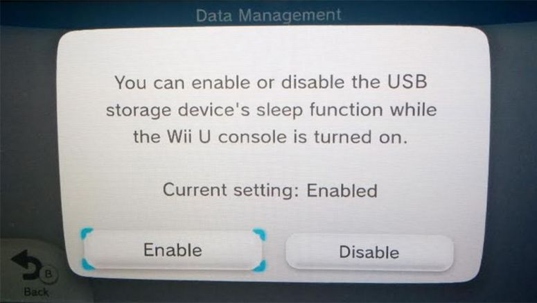 How To Disable USB Hard Drive Sleed Mode on Nintendo WIi U