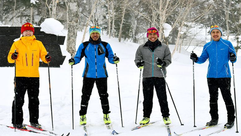 Men from Thailand ski in Hokkaido for shot at Winter Olympics