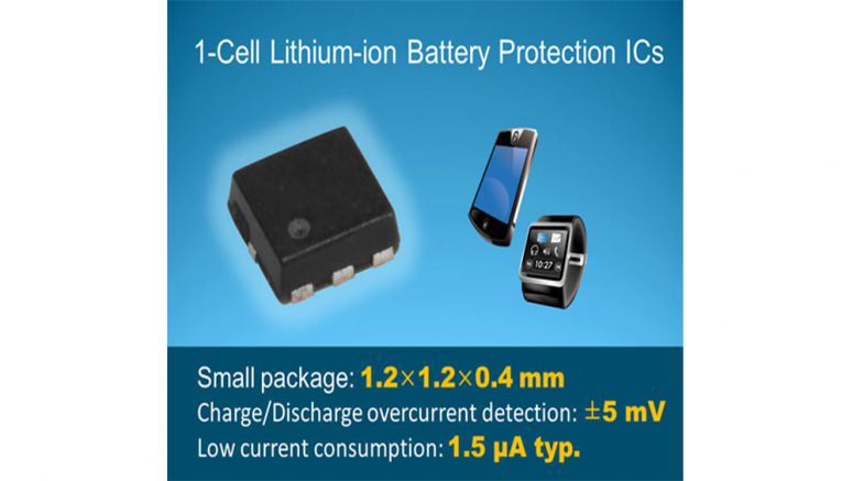 Seiko Instruments Introduces New 1-cell Lithium-ion Battery Protection ICs incorporated in Ultra-Small 1.2 x 1.2 mm Package