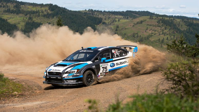 Subaru Driver David Higgins Claims Third Straight Win of the Rally America Championship at Oregon Trail Rally 2015