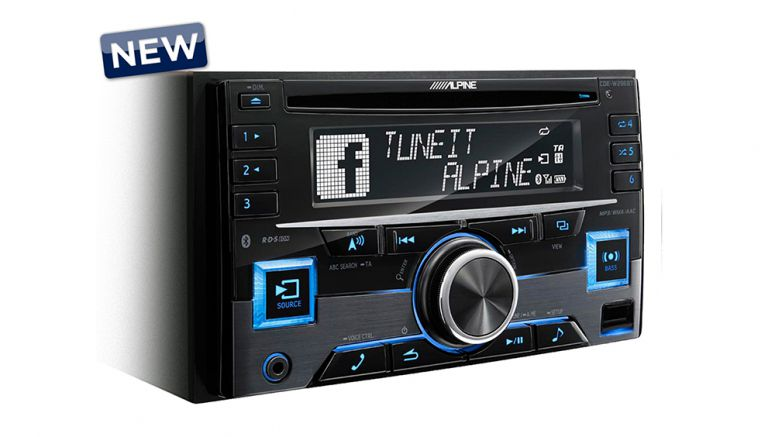 Alpine CDE-W296BT 2-Din CD Receiver With Bluetooth