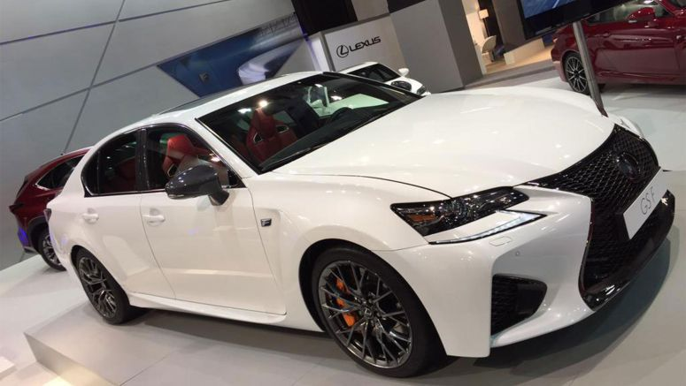 Ultra White Lexus GS F on Display at Barcelona Auto Show 2015