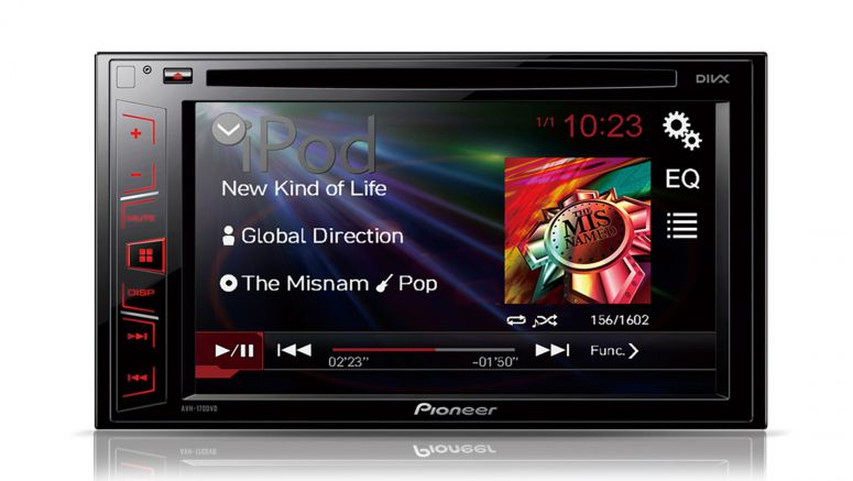 Pioneer AVH-170DVD 6.2-inch touchscreen CD/DVD tuner with USB, Aux-in and video out