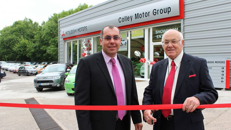 Celebration Marks Official Opening Of Mitsubishi Dealerships's New £250,000 Showroom