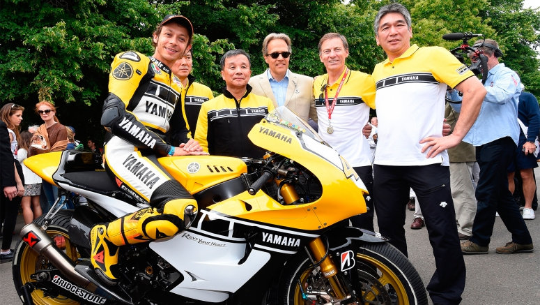 Valentino Rossi Underlines Yamaha Motor?s 60th anniversary at 2015 Goodwood Festival of Speed Debut