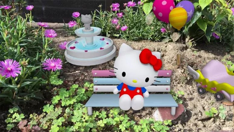 Sony : Hello Kitty AR effect released