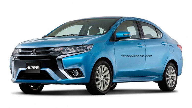 Imagined : Mitsubishi Attrage Improved With Outlander Styling Cues