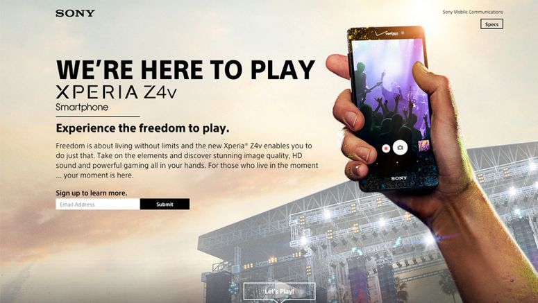 Sony Xperia Z4v Page Pulled From Sony Website