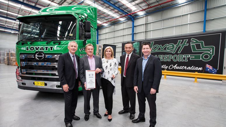 Transport Legend Lovatt Takes Delivery of 100,000th Hino Sold in Australia