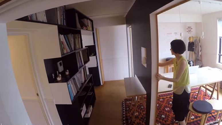 Video : Switch flat Tokyo: mobile walls transform home into office