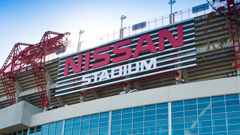 Nissan Stadium gets a new marquee sign