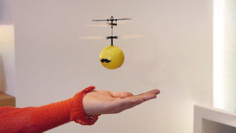Small and Cute FlyingBall can fly indoors like a helicopter