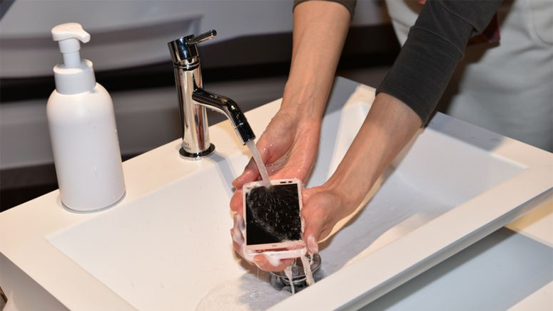 Kyocera Japanese Smartphone That Can Be Washed With Soap & Water
