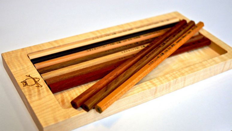 Pencil maker makes a point by specializing in hardwood types