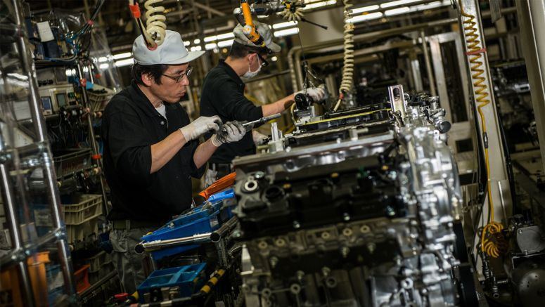 "Production of Infiniti's ""VR30"" twin turbo 3.0-liter V6 engine begins in Japan"