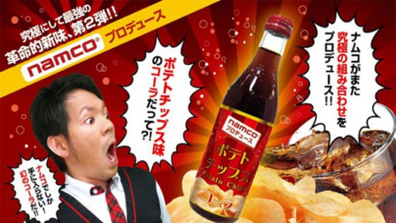Namco will sell potato chip flavored soda in Japan