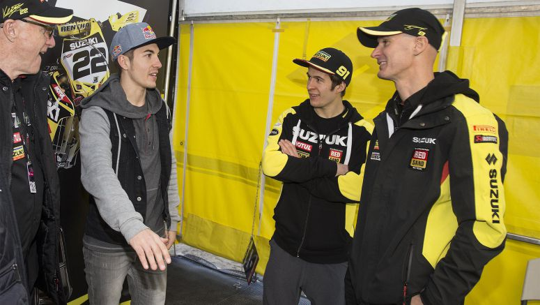 Vinales Visits Suzuki World MXGP at Valkenswaard