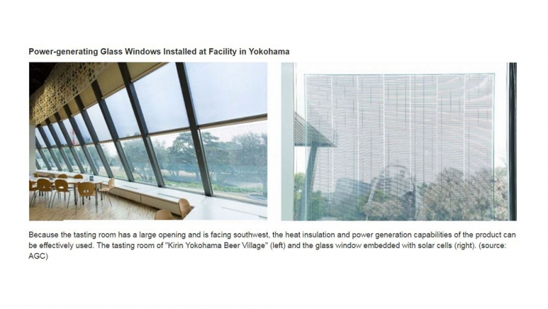 Power-generating Glass Windows Installed at Facility in Yokohama