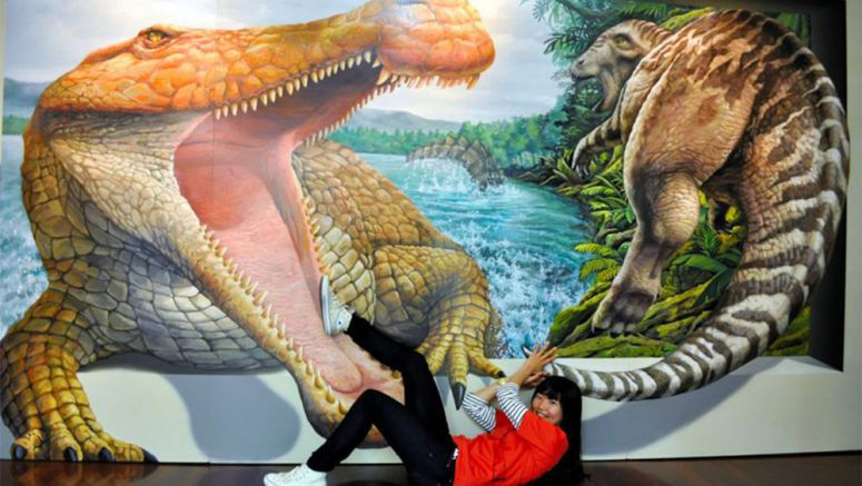 Optical illusion display in Hyogo immerses people in the artworks