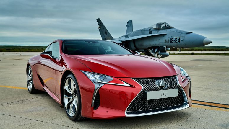 Lexus LC Races F18 Jet Fighter in Spain