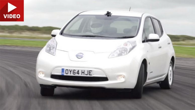 Video : Plastic Tires Is All It Takes To Drift The Nissan Leaf